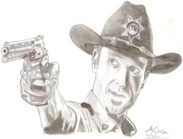 Andrew Lincoln - Rick Grimes by Hawk-Eye-Aless