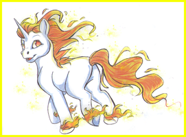 Rapidash Pony by BlackberryCream