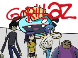 Gorillaz and Del by Bliss-23