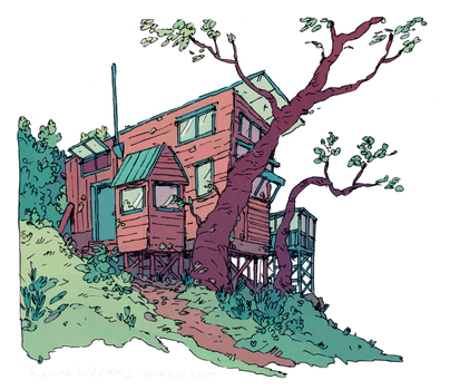 Cottage Sketch by HannaKN