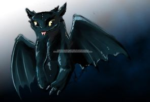 Toothless sketchyy by mejony