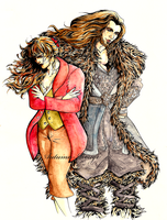 Bilbo and Thorin by Autumn-Rouge