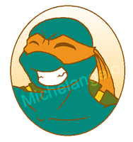 TMNT:Michelangelo Button by kiananuva12