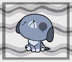 Sad puppy is sad by BakaMichi