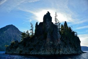Crater Lake Ghost Ship by jeruley