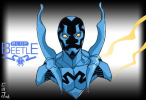 blue beetle by jam-bad