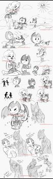 Some doodles  Bendy and Chrystal. by eliana55226838