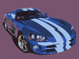 Dodge Viper Car Paint By Number Art Kit by numberedart