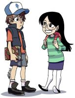 Gravity Falls - Cute Couple by eisu