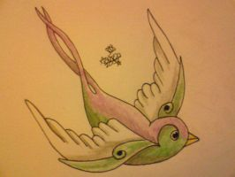 swallow design 2 by sugarskull-tattoos