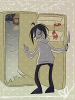 Jeff's going to come into the refrigerator by Nyako-Shoyu