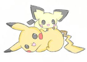 Come on and Play with me - Pikachu and Pichu by Yuma76