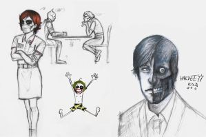 joker doodles 07+ Two face by rockedgirl