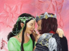 Aragorn and Arwen - finished by Eirieniel
