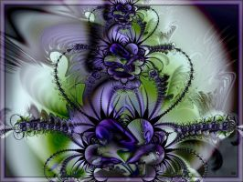 Purple flower arrangement by marijeberting