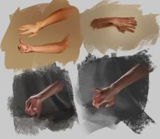 Hand Sketches by LhuvIk