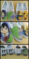K-ON shoes by OpaliChan