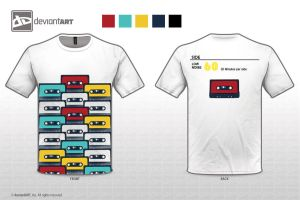 Cassette T-Shirt Design by iDrawArtShop