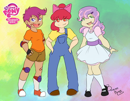 My Little Pony: Gijinkas are Magic CMC by BleachedKitten