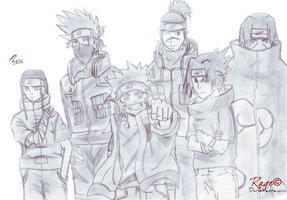 Naruto Group by Rage-DN