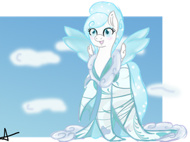 C: Snowy Breeze Kimono Pony by Bally-Vhern