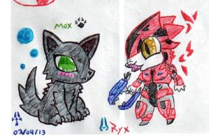 Chibi Mox and Chibi Ryx by chemicalbernes