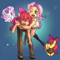 Best Friends Forever - Sweetie Bell and Applebloom by Lionel23