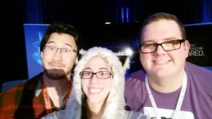 At PAX South thanks Bob and Mark  by sapphirewolf2