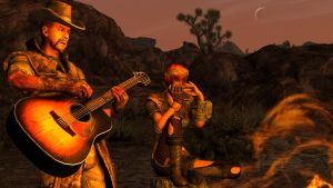 Campfire musicians by capmac