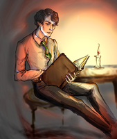 Just Tom Riddle reading by blesshimwithsalt