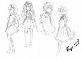 Rough Character Sketches by Melon-cauliflower