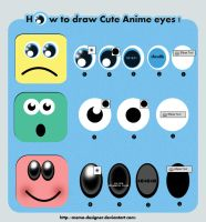 How to draw Cute Anime eye by MEMO-DESIGNER