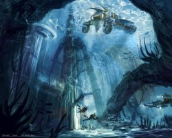 Underwater City by minifong