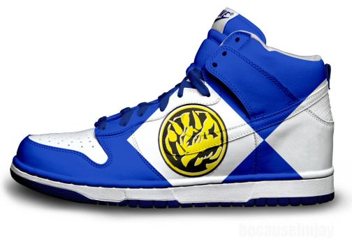 Blue Power Ranger Nike Dunks by becauseimjay
