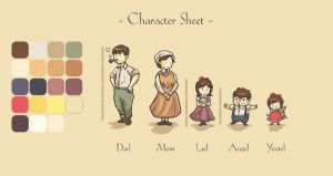 Liel Anzel Yentel Char Sheets by Poporetto