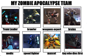 Transformers Prime Zombie Apocalypse Team by Transformersguy1000