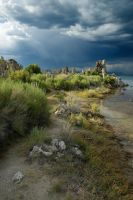 Stormy Weather Mono Lake by arches123