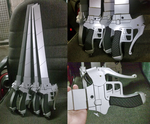 Shingeki no kyojin sword handmade cosplay props by Alzheimer13