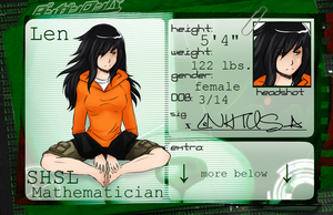 Dangan Ronpa Character Sheet (Updated) by digidudeX
