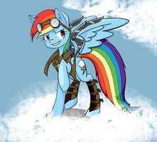 Steampunk Dashie by KittyKitsune13