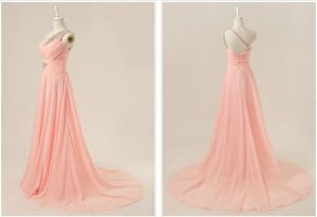 Pink Evening Dress by weodress