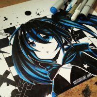 Black Rock Shooter Fanart by NauticaWilliams