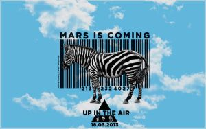 BARCODE ZEBRA MARS IS COMING EDIT WALLPAPER SKY by lovelives4ever