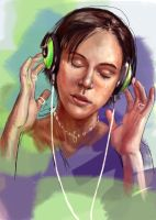 headphones on - WIP full by Shalladdrin