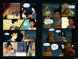 TMNT: Mckenzie Comic Pages 6 and 7 by student-yuuto