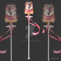 (CLOSED) Staff weapon adopt auction (46) by Liowa
