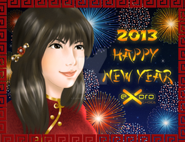 Exoro Choice's 2013 Chinese New Year Cards 07 by ExoroDesigns