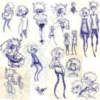 Ballpoint pen sketches by Eliotchan