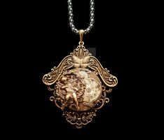 Steampunk Pendant --- Old Times Like Paradise by x-Metal-Journey-x