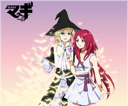 Magi:TheLabyrinth of Magic Titus Alexius and Amira by whiterabbit20